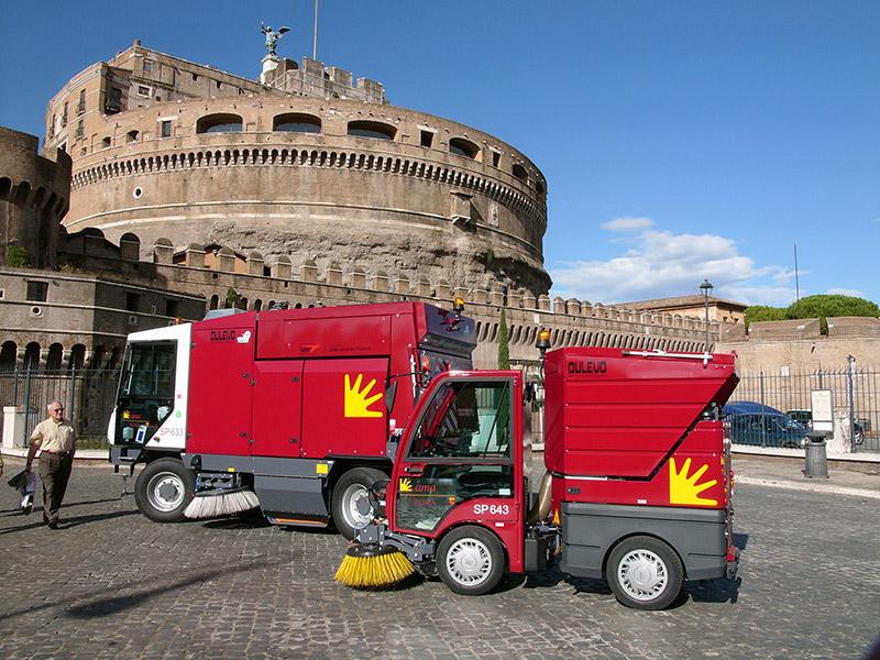 Sistema di scarico Dulevo-850-Macchina spazzatrice stradalecon motore diesel