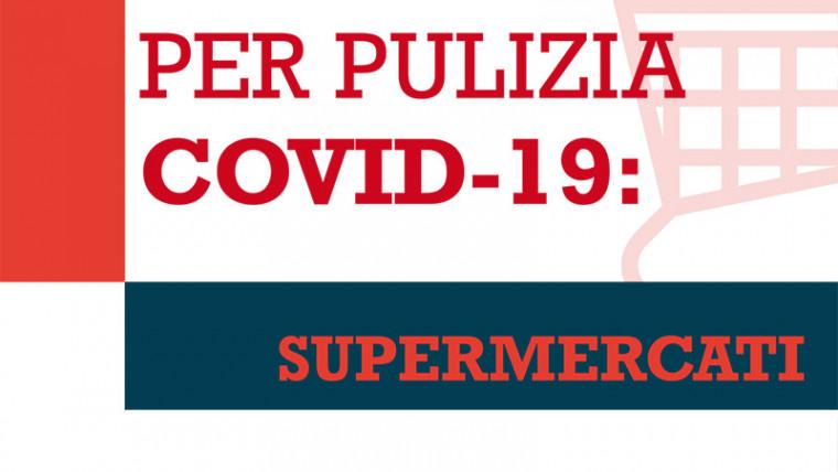 COVID19: BUONE PRASSI PER PULIZIA SUPERMERCATI